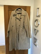 Gorgeous Women's MAXMARA Rainwear Beige Mac Trench Coat Jacket UK 10