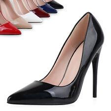 Damen Pumps High Heels Stiletto Elegante Schuhe Lack Absatzschuhe 897241 Top