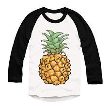 Pineapple Printed Baseball Top Hipster Urban Long Sleeve Mens Girls Fashion Top