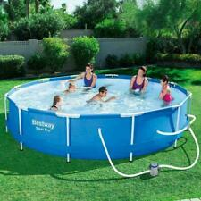 "💦Bestway Steel Pro Above Ground Pool with 330 Gph Filter Pump 12'x30"" New💦"