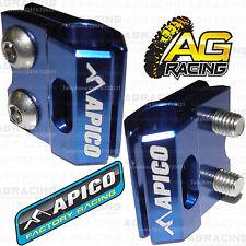 Apico Blue Brake Hose Brake Line Clamp For Yamaha WR 250X 2007 Motocross Enduro