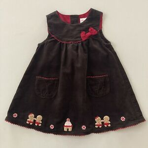 Gymboree Baby Girl 12-18 Months Holiday Corduroy Jumper Dress Gingerbread
