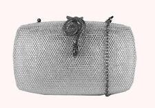 ** INC INTERNATIONAL CONCEPTS EMILEH Silver Rhinestone Clutch Bag Msrp $129.50