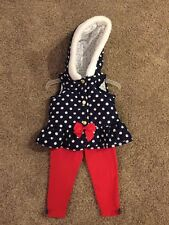 Baby Girls - 2pc Outfit - Sz 18m - Sleeveless Coat/Pants - Navy blue/Red/White