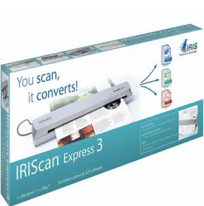 New Sealed IRISCan Express 3 Compact Portable USB Scanner & OCR Software Nib Nip