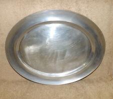 "Wilton Armetale Plough Tavern 19"" Oval Platter USA made"