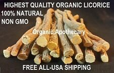 GENUINE 8 oz 100% Natural ORGANIC LICORICE ROOT CHEW STICK Sewak Miswak 1/2 Lb