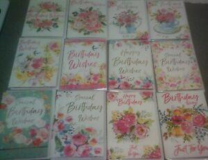HAPPY BIRTHDAY CARD*FLOWERS DESIGNS*BUTTERFLIES*CHOOSE*FEMALE*GREETING*LOVELY