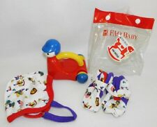 FAO Schwarz Baby Toys Gift Set Crawling Rattle Hat Booties NEW