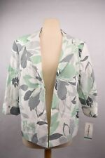 Alfred Dunner Jacket Size 16P Petite Sport Coat Flower Print NWT