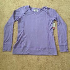 Layer 8 Performance Quick Dry Lavender Long Sleeve Women's Shirt Top Size L NWT