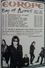 EUROPE Bag Of Bones 2012 UK Tour mini Press ADVERT 6x4 inches