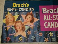 BRACH'S All-Star CANDY Sign1950 MOVIE Rhonda Fleming,Susan Hayward,Rita Hayworth