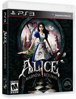 Alice: Madness Returns [PlayStation 3 PS3, Action Adventure, Survival] NEW