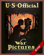 WWI UNITED STATES WAR PICTURES FILM PROPAGANDA POSTER REAL CANVAS WAR ART PRINT