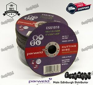 "Parweld (4"") 100mm x 1mm x 16mm Thin Stainless Steel Metal Cutting Discs"