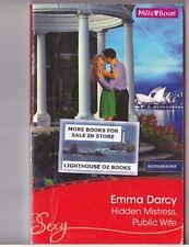 HIDDEN MISTRESS, PUBLIC WIFE EMMA DARCY LOT 2  2011 Aus Mills & Boon Romance