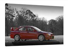 Mitsubishi EVO 6 - 30x20 Inch Canvas Wall Art Framed Picture Tommi Makinen VI