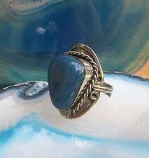 Anello alpaca argento agata blu pietre Etnico Inca Maya indiana stile 28