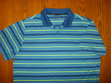Nike Golf Tour Performance Short Sleeve Blue Striped Polo Shirt Mens Xl Excell.