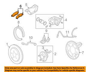 Cadillac GM OEM 11-16 SRX Brake-Rear Pads 20962994