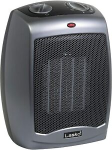 Lasko 754201 Small Portable 1500W Electric  Space Heater With Tip-Over Safety Sw