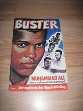 1978 Buster Featuring Muhammad Ali Danish International Comic Book/Free Ship!