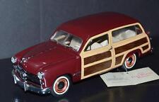 Franklin Mint 1/24 Diecast Coche 1949 Ford Woody Vagón Granate, Madera
