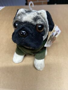 Doug the Pug In Camo Hoody Brand New Plush / Teddy H14.5cm