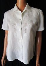 ***VINTAGE CAMICIA Shirt TG.40 Colore Bianco 100% Lino Cod.S