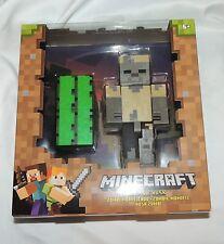 NEW Minecraft Zombie Husk Action Figure Smelt Cactus Green