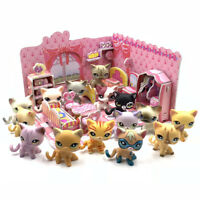 Pet shop toys cute cats + puzzle bedroom short hair Cat with accessories