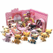 littlest pet shop toys lps cats + puzzle bedroom short hair Cat with accessories