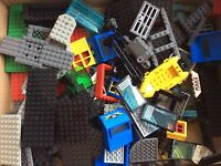 Genuine Lego Bundle 840g Mixed Bricks Parts Pieces Base Plates, Chassis & More
