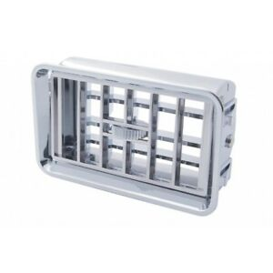 Freightliner FLD Classic Heater A/C Vent / Chrome Plastic Dash Vent Grill