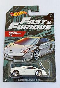 Hot Wheels 1/64 3 inch Lamborghini Gallardo LP 560/4 Serie Fast & Furious