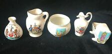 Crested China Miniatures United Kingdom Lot of 5