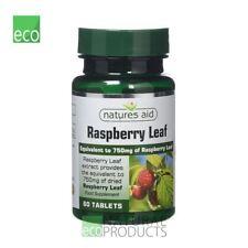 Natures Aid Vegan Raspberry Leaf 375mg 60 Tablets
