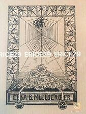 Ex Libris Elsa B Mülberger Bookplate By Sister German Artist Marian H. Mülberger
