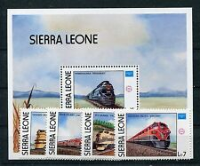 Sierra Leone 892/95 Block 46 postfrisch / Eisenbahn ......................1/3304