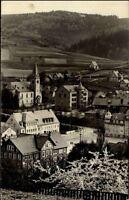 Steinbach Postkarte AK 1961 DDR Thüringer Wald Stadt Häuser Kirche Landschaft