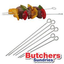 Assorted Pack of Metal Food Kebab Skewers (2x15cm, 2x17.5cm & 2x20cm) / BBQ
