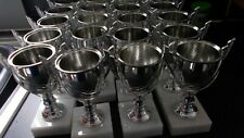 JOBLOT OF 20 - SILVER CUPS - FREE ENGRAVED PLATES - USED FOR DIFFERENT SPORTS