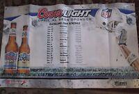 Coors & Coors Light Cleveland Browns NFL 2009 Schedule Bar Banner 36 x 59
