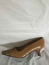 307592424b2fe Stuart Weitzman 9 Womens Kitten Heel Pumps Brown Leather Pointed Toe Euc  6W29038