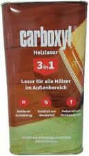 Burtex Carboxyl Holzlasur 3in1 Deckanstrich Holz Schutz Anstrich Lasur 5 Liter