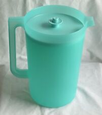 Tupperware Classic Sheer 1 Gallon Pitcher Solid Turquoise NEW