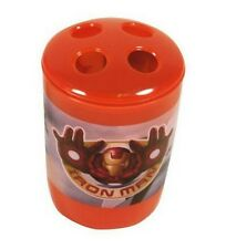 Iron Man Toothbrush Holder Marvel Superhero Kids Orange Flying Tony Stark New