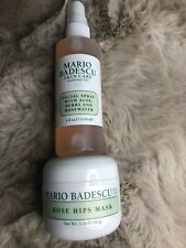 Mario Badescu Rose Hips Mask 2 oz. (full size) & Facial Spray 4 oz. New
