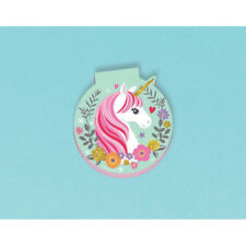 MAGICAL UNICORN MINI NOTEPADS (8) ~ Birthday Party Supplies Favors Stationery